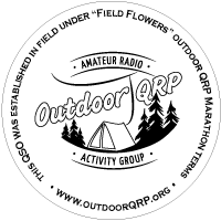 Outdoor QRP AG sticker for QSL-cards etc.